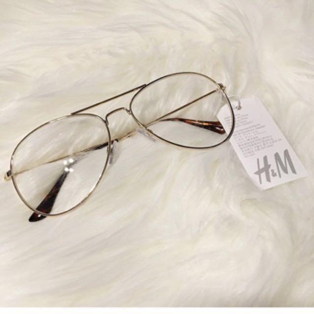 Gold Aviator Fake Glasses