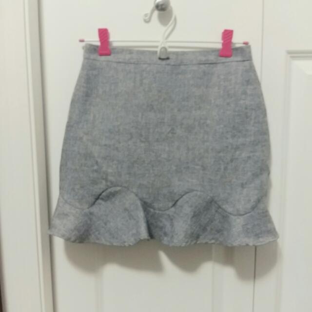 Grey Detailed Design Skirt(S)