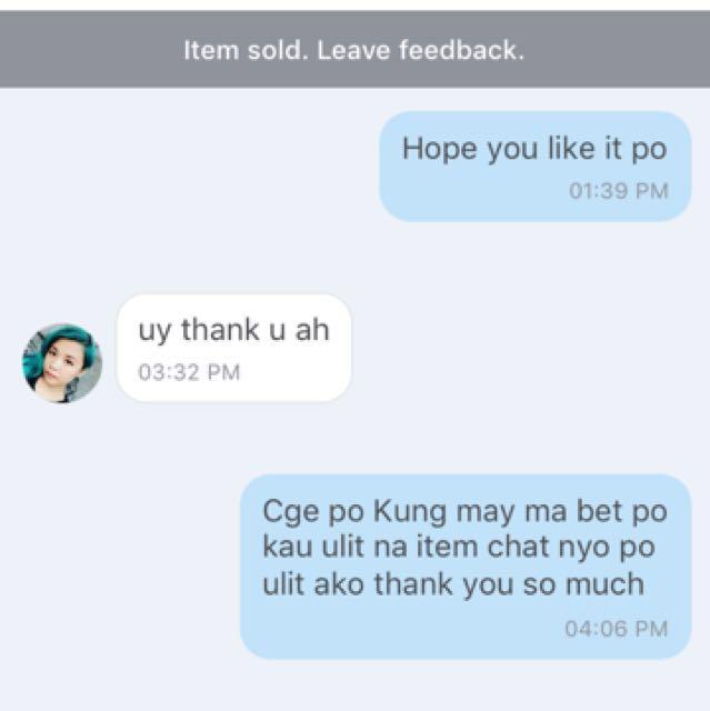 Happy Customer Thank U Po 😊