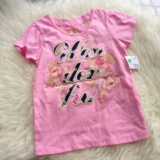Healthtex 5T Girls Flower Glitter Top