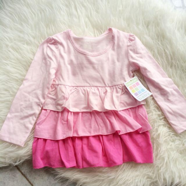 Healthtex Girls 24M Pink Long Sleeve Tunic / Top