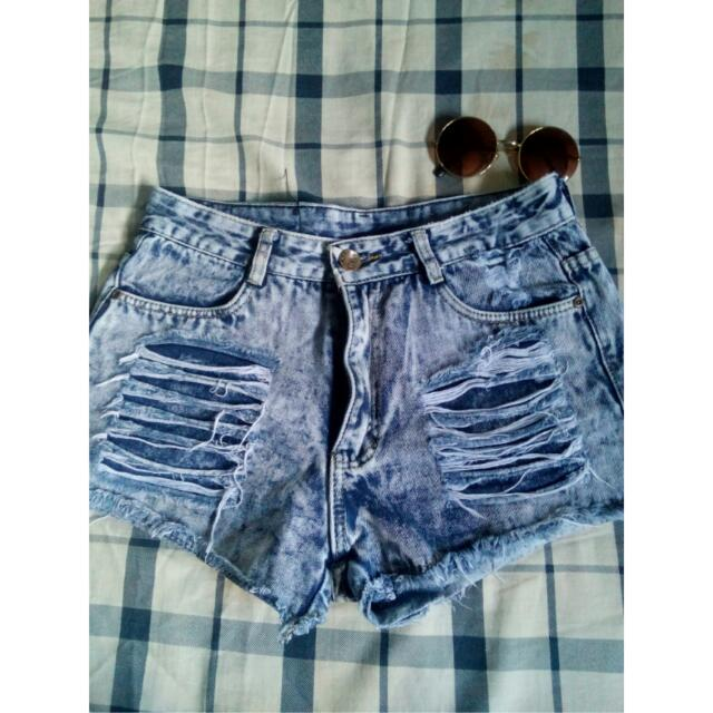 RE-Price High-waisted Denim Short