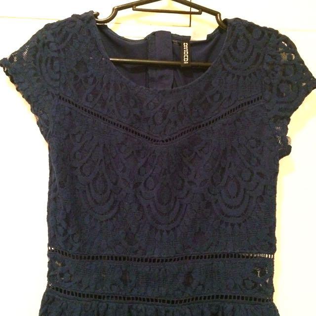 H&M BLUE LACE DRESS 💙