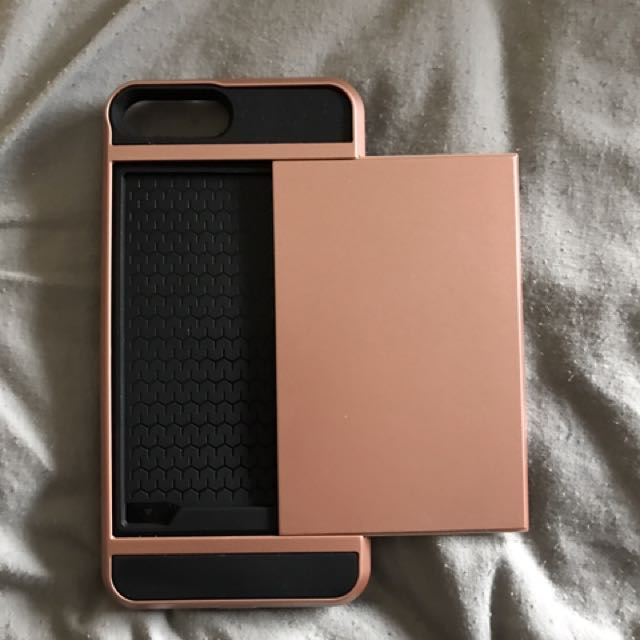 iPhone 7 Plus Rose Gold Phone Case Wallet