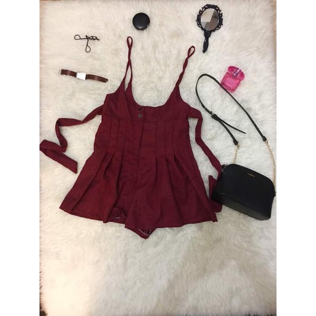 Jumpsuit Merah / Baju Kodok