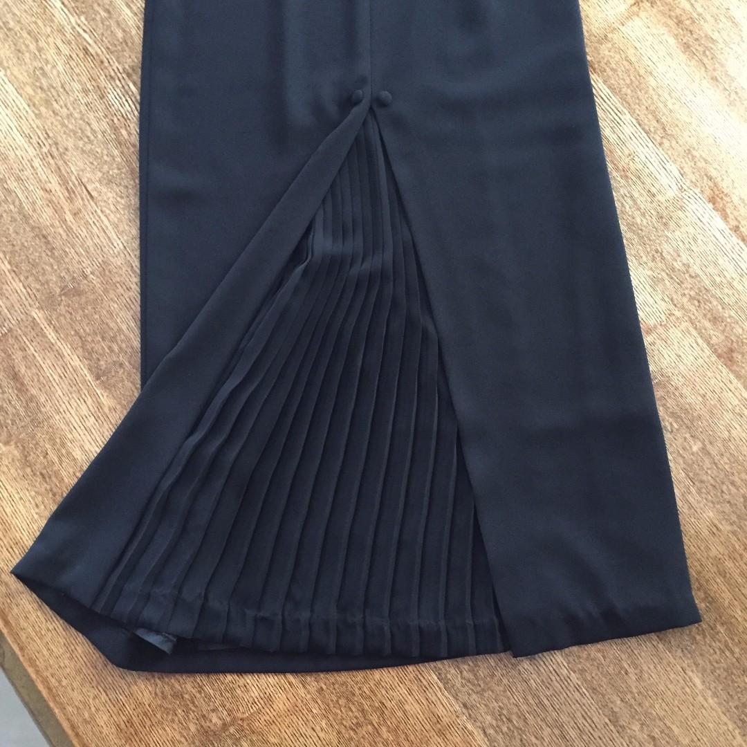 K Separates Formal full length Black Skirt Size 8 ?? 6