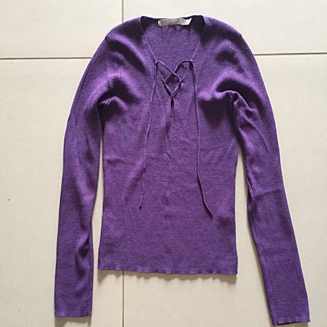 Knitted Purple Blouse