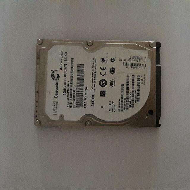 Laptop Hdd 2.5 inch Hardrive 320gb