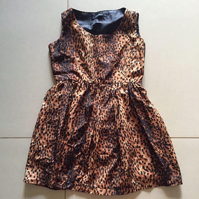 Leopard-printed Cocktail Dress