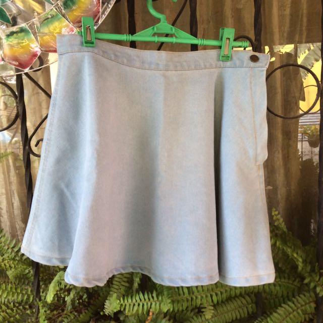 Lightwash Denim Circle Skirt