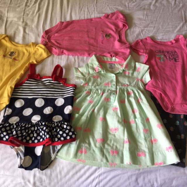 Little Girls Clothes Bundle (size 3mos - 1yr) - Set Of 6
