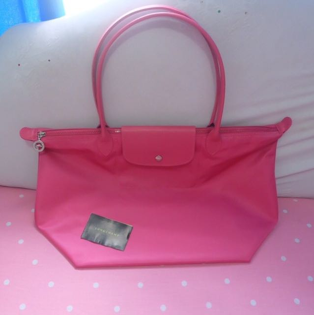 Longchamp Original Large Long Handle LLH Pink