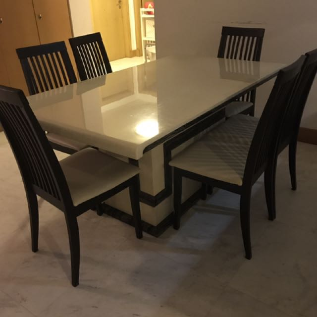 Marble Dining Table For Sale Furniture Tables Chairs On Carousell