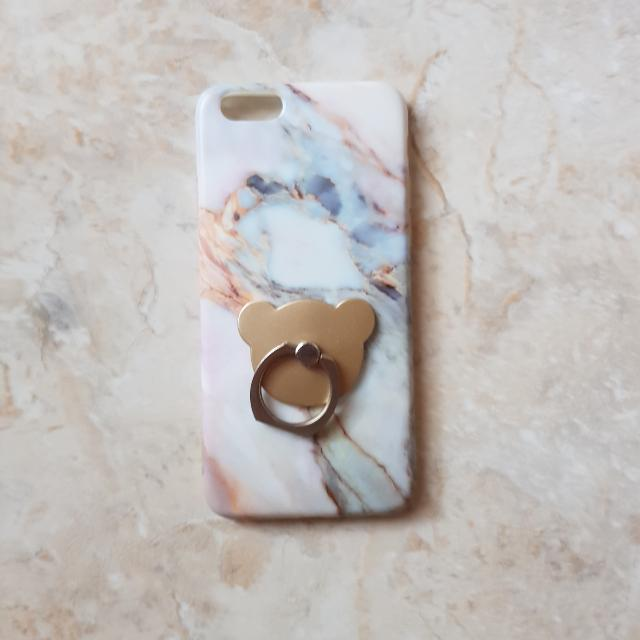 Marble Iphone 6/6s Case + Bear Iring