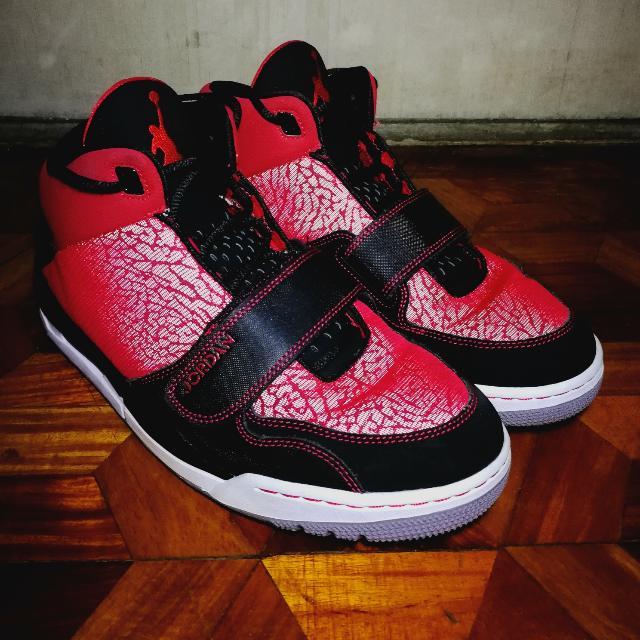 5c0bc28d2dbcf6 Jordan V IV III Red Black Laceup Basketball Shoes