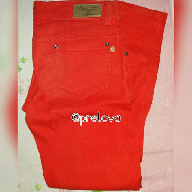 Metalic Red Pants (Kode 40)