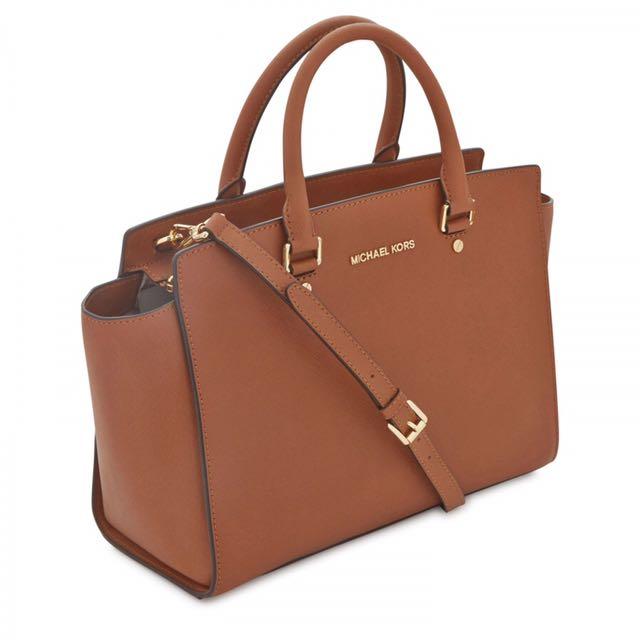 20babffa44de8f ... where can i buy authentic michael kors selma large saffiano leather  satchel womens fashion bags wallets