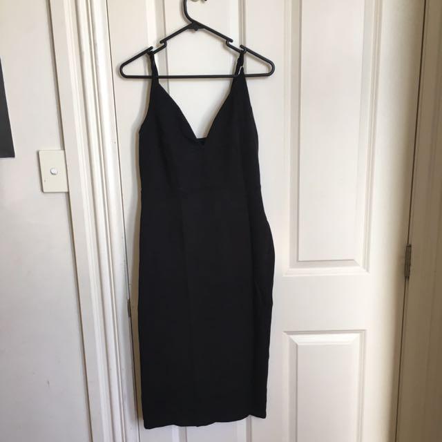 Midi Tight Black Dress
