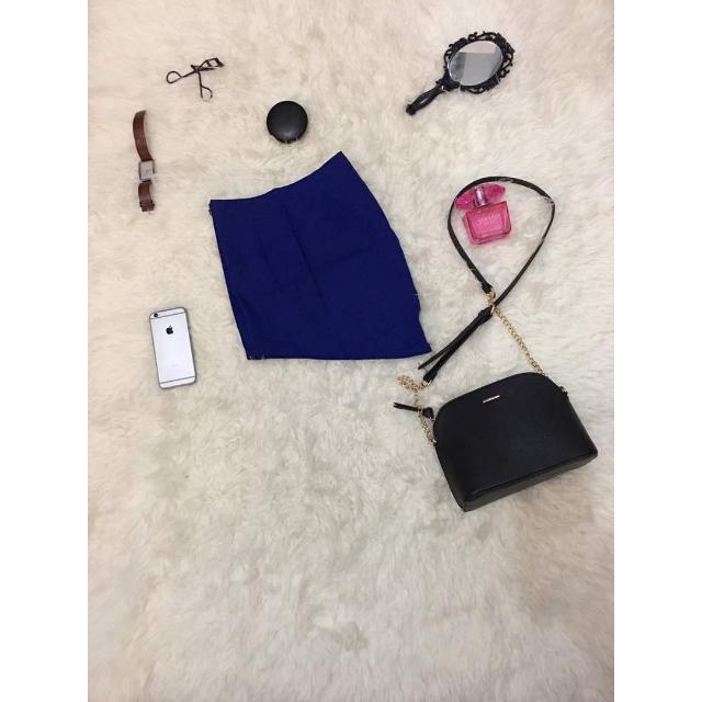 Mini Skirt Biru / Rok