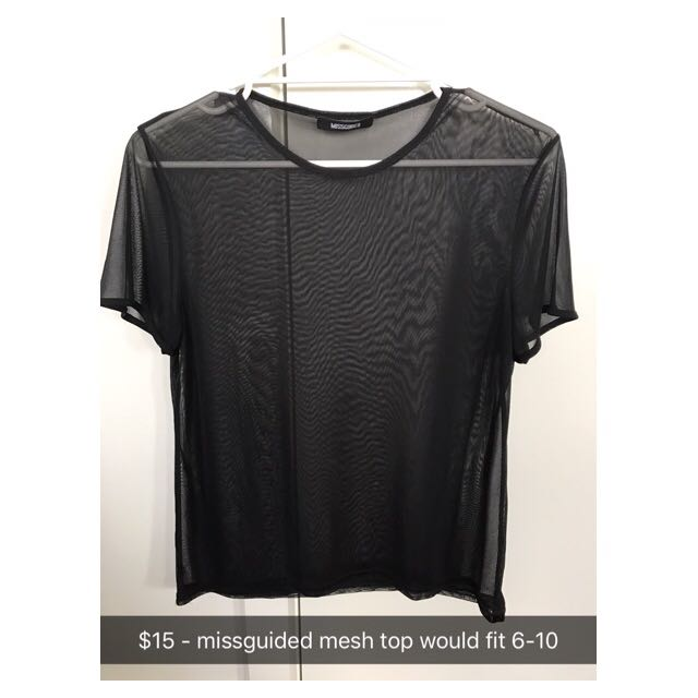 Missguided Mesh Tee