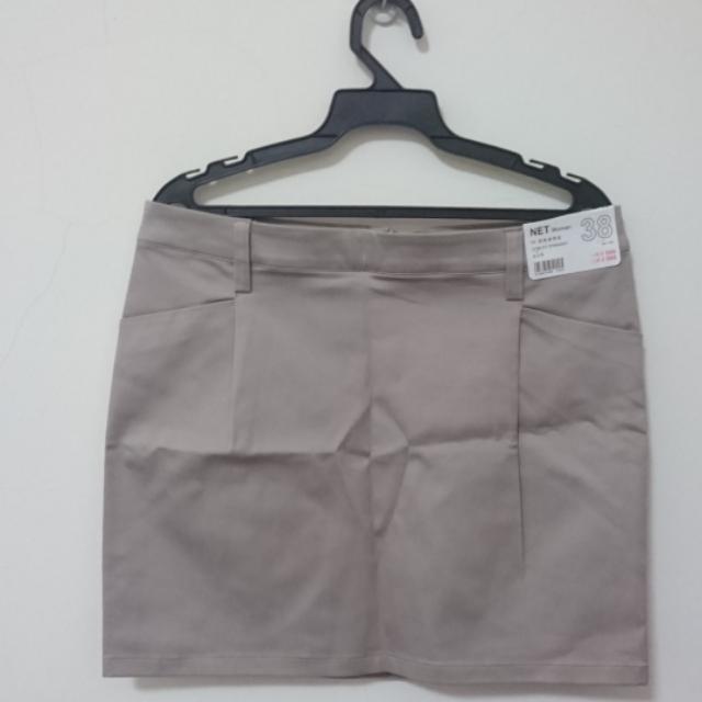 全新netA字修身窄裙