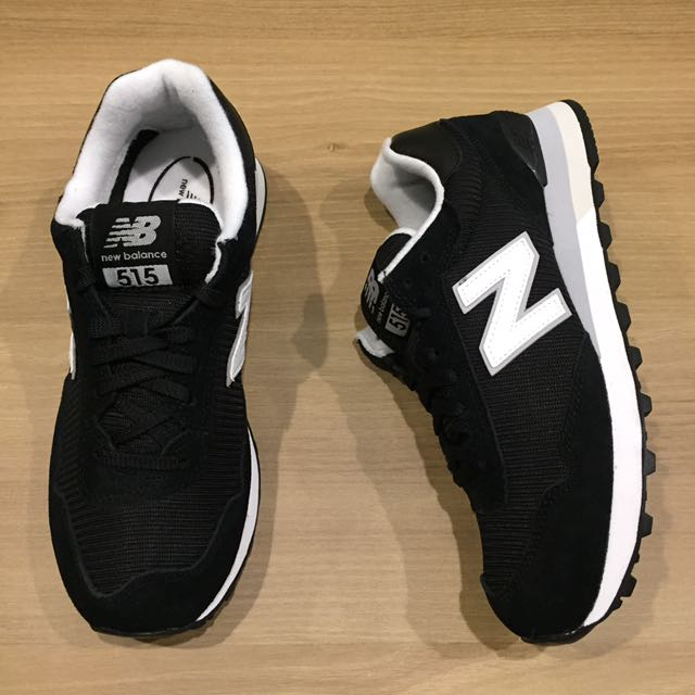 new balance 經典 515 黑白 男款休閒鞋 運動 復古鞋 麂皮 網布