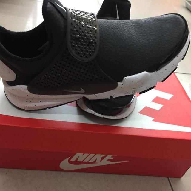 Nike Sock dark 潑墨防水皮革