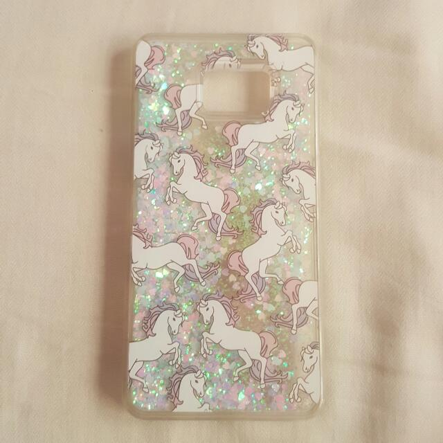 Note 5 Case - Glitter Unicorn