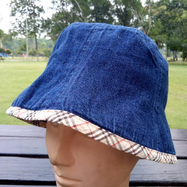 7c0dc90a Original Burberry London Blue Label Made In Japan Denim Bucket Hat Cap  Topi, Women's Fashion, Accessories on Carousell