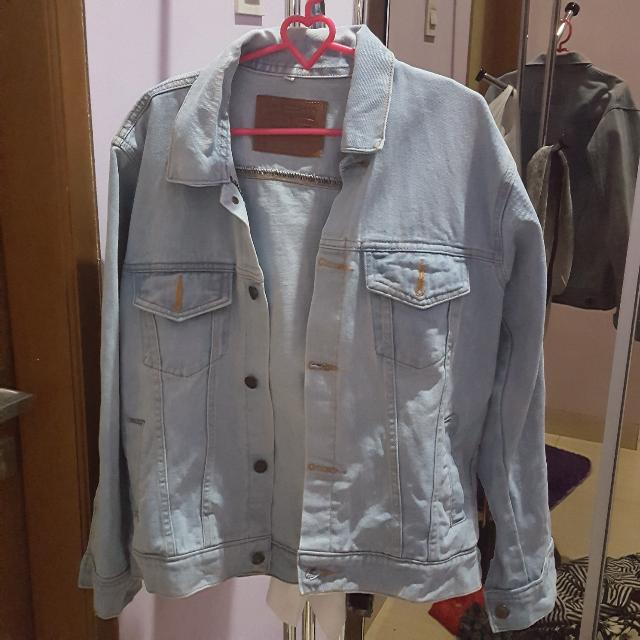 oversize denim jacket (merk levis)