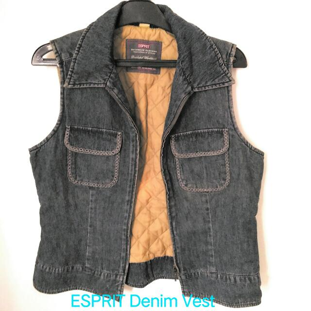 Paket Denim! ESPRIT Denim Vest & Kaneko Japan Denim Blouse - Preloved