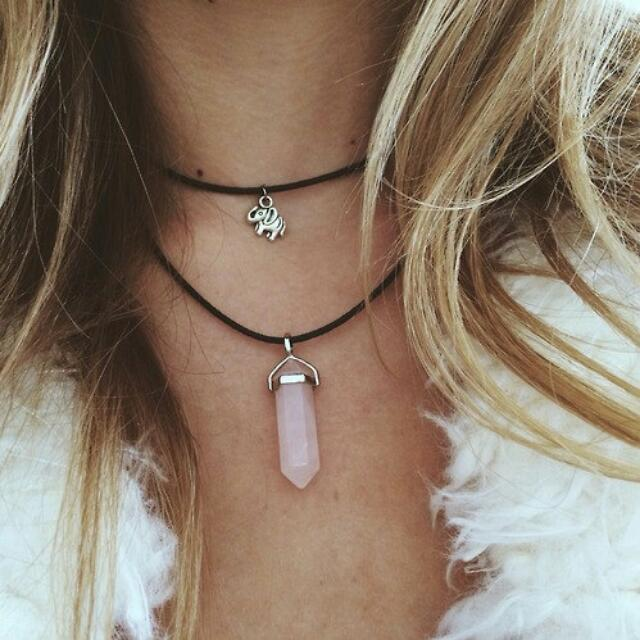 Pointed Crystal Chokers