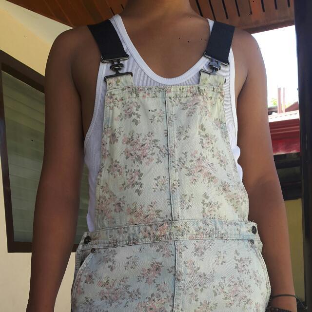Preloved Floral Print Jumper Skirt
