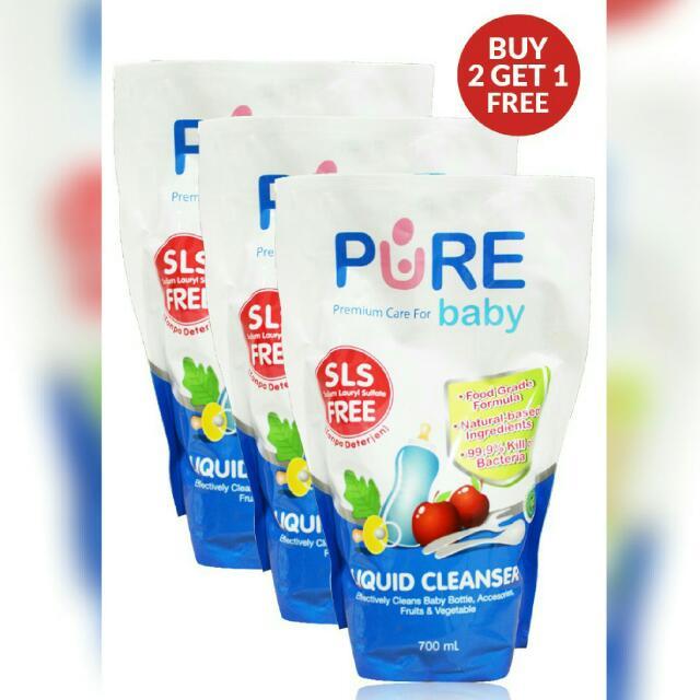 Pure Baby Liquid Cleanser - Sabun Cuci Piring Bebas Detergen 700ml