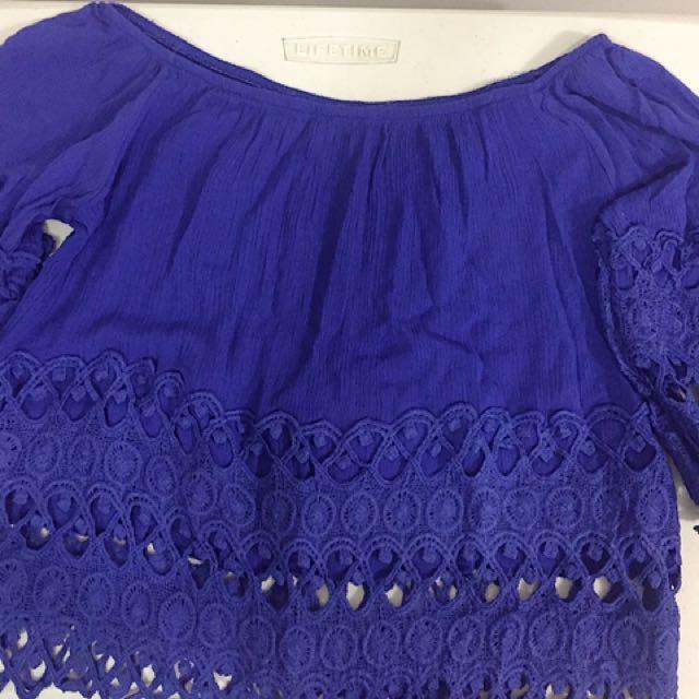 Purple Off shoulder