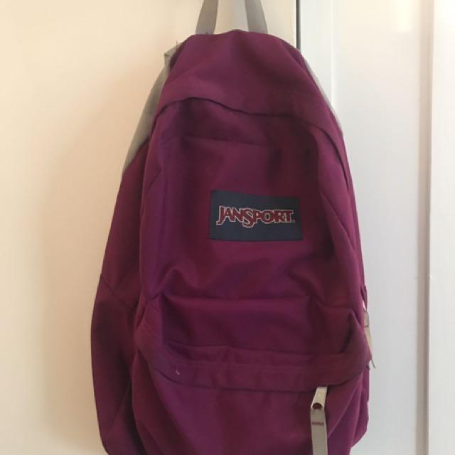 Purple/Pink Jansport Bag