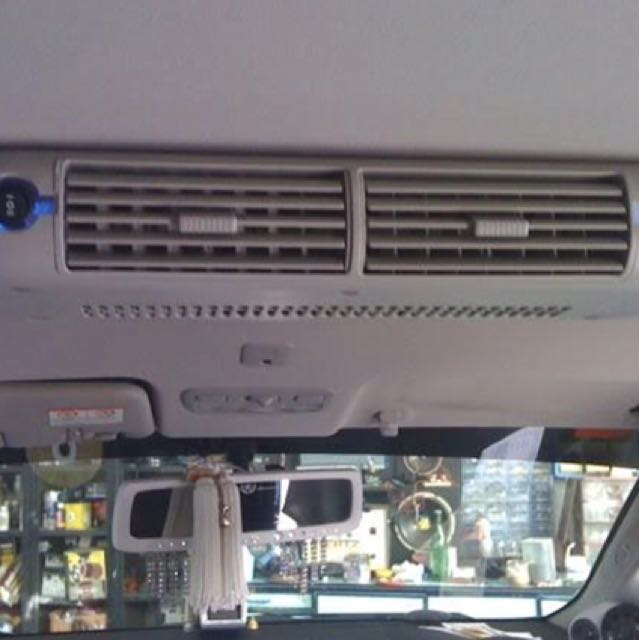 Rear aircon blower for mpv