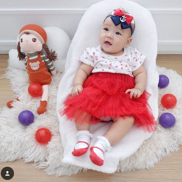 Red Set (romper, tutu, headband)