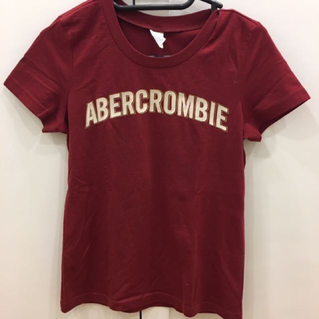 Red Women's Abercrombie Tshirt Size m