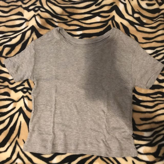 Ribbed Crop Top (Gray)