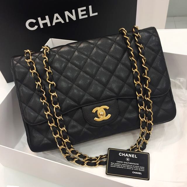 d8d6428b5ec7 ❌SOLD❌ Almost Full Set! Good Condition Chanel Jumbo Single Flap ...