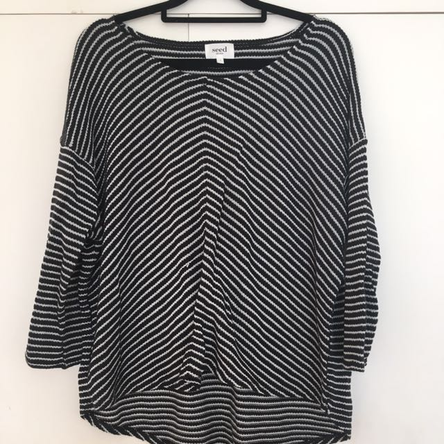 Seed Chevron Stripped Top