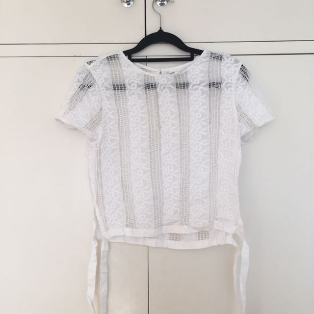 Seed Lace And Ribbon Top