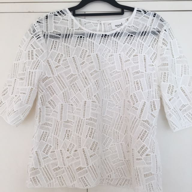 Seed Patterned Lace Top
