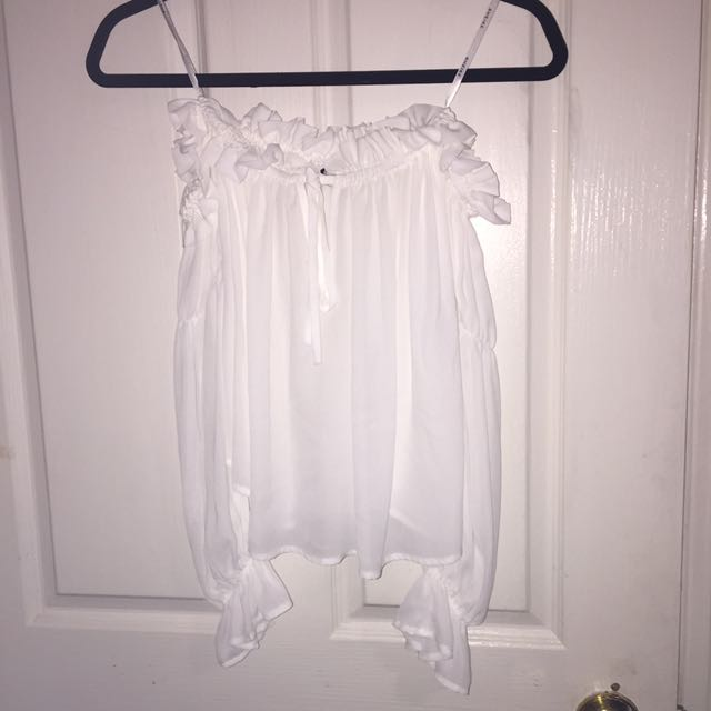 SHEIKE Off The Shoulder White Top