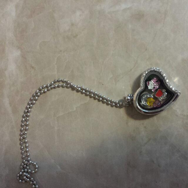Silver Heart Locket Necklace