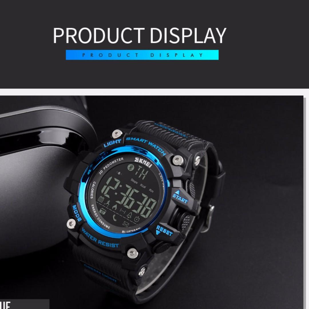 SKMEI 1227 Jam Tangan Olahraga Smartwatch Bluetooth ... Source · photo photo .