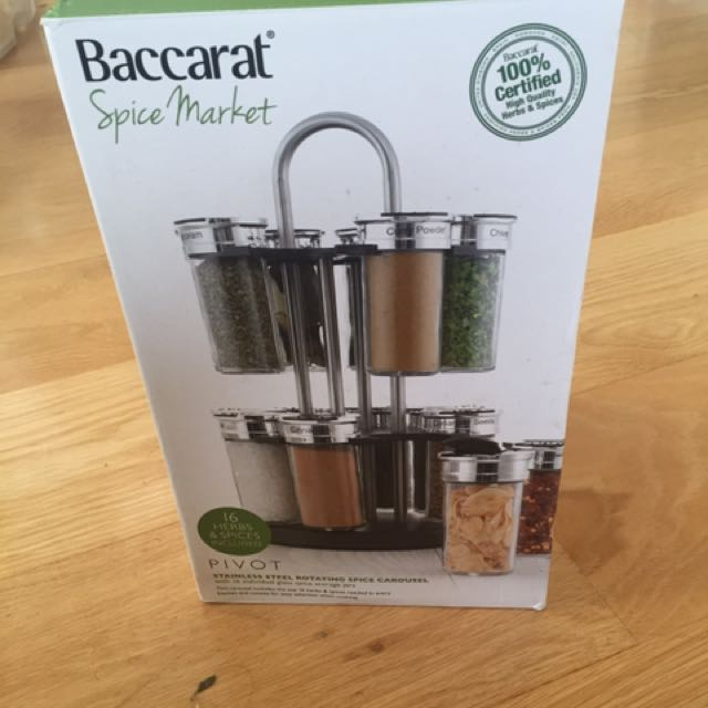 Stainless Steel Rotating Spice Carousel