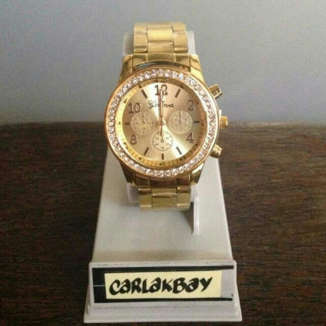 Stock 5: Gold Watch Free Shipping For Metro Manila