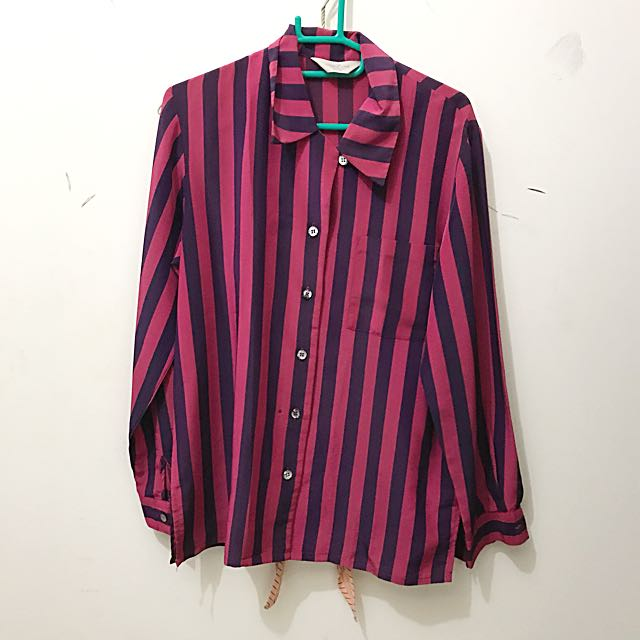 stripe loose shirt